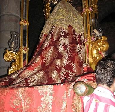 Virgen del Collado en la fiesta del día del Rosario, 2012