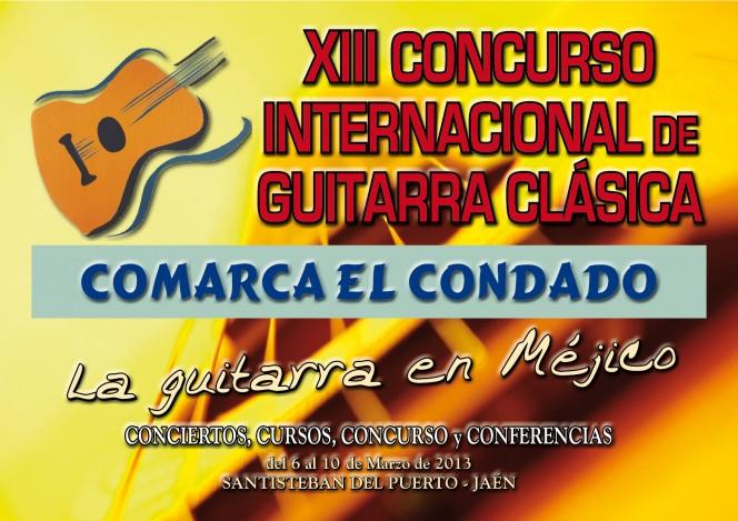 Cartel XIII Concurso Guitarra Clásica Comarca El Condado 2013
