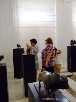 Exposición de José Leal, esculturas taurinas