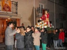 Procesión de San Esteban 2013 frente a la Mayordomía