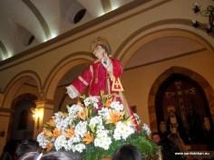Procesión de San Esteban 2013 entrando en el templo