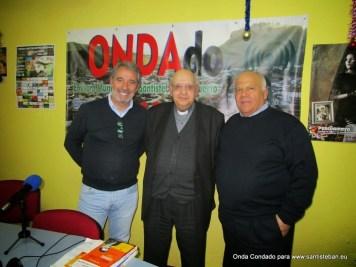Francisco Armijo, Rafael Higueras y Juan Miguel Gascón grabando en Onda Condado
