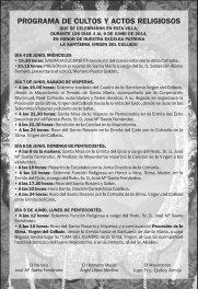 Programa de Cultos Pascuamayo 2014