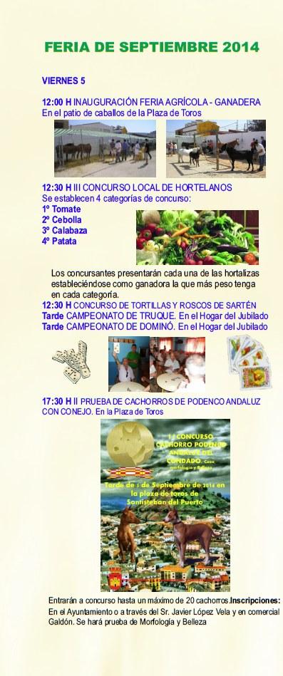 Folleto Feria Septiembre 2014 - 2