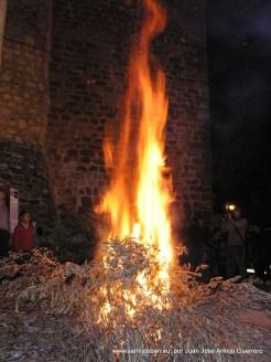 Lumbre de la Candelaria en Santa María