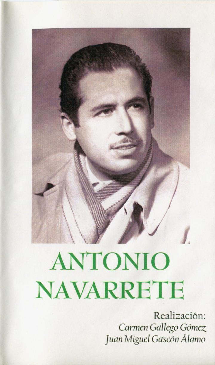 Portada Homenaje Antonio Navarrete