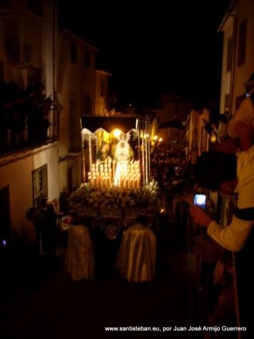 Jueves Santo. Procesión de la Virgen de los Dolores y Jesús de la Caída.