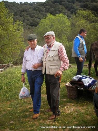 Mulero mayor y Juan José Armijo en el molino