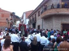 Bajada de la nueva mayordomía con el Cuadro, Pascuamayo 2015