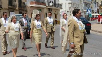 Mayordomía llegando a la Fiesta de Pentecostés