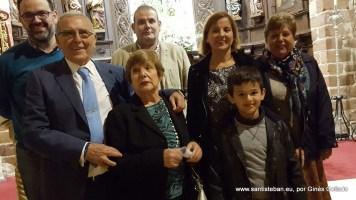 Ginés Collado en familia, el día del pregón en Santa María