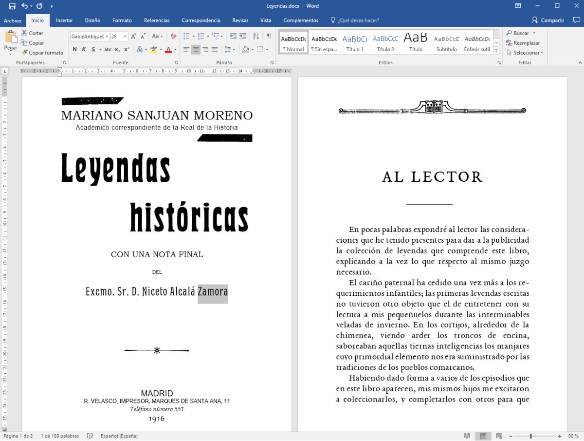 Leyendas Históricas - Preparación para divulgación