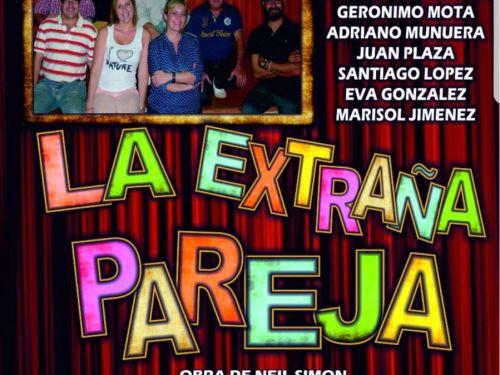 Cartel de Farrabullana Teatro La extraña pareja