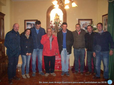 Corporación y familiares de la casa de San Sebastián