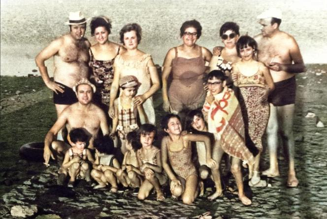 En el río, años 70. Por Justo Sánchez
