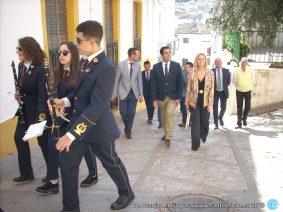 Domingo de Ramos - Subida de la Banda de Música y Corporación a la Bendición de las Palmas