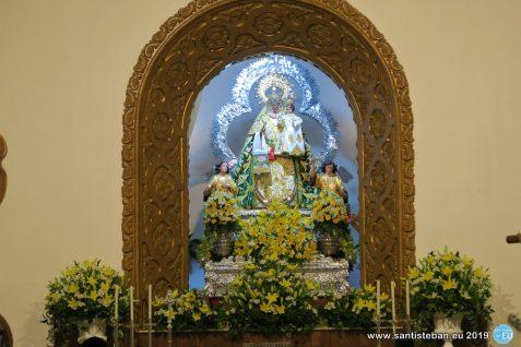 Cripta y Virgen del Collado en la ermita - sábado de Pentecostés 2019