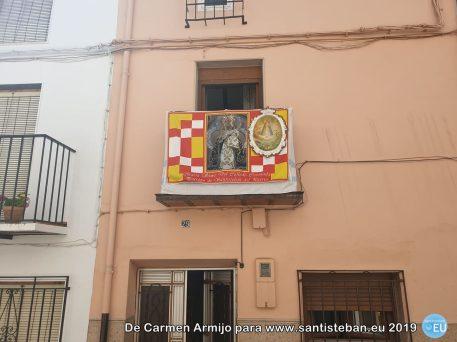 Balcón de la Familia Armijo con una miniatura del cuadro antiguo hecha por nuestro recordado Juan José Armijo Guerrero