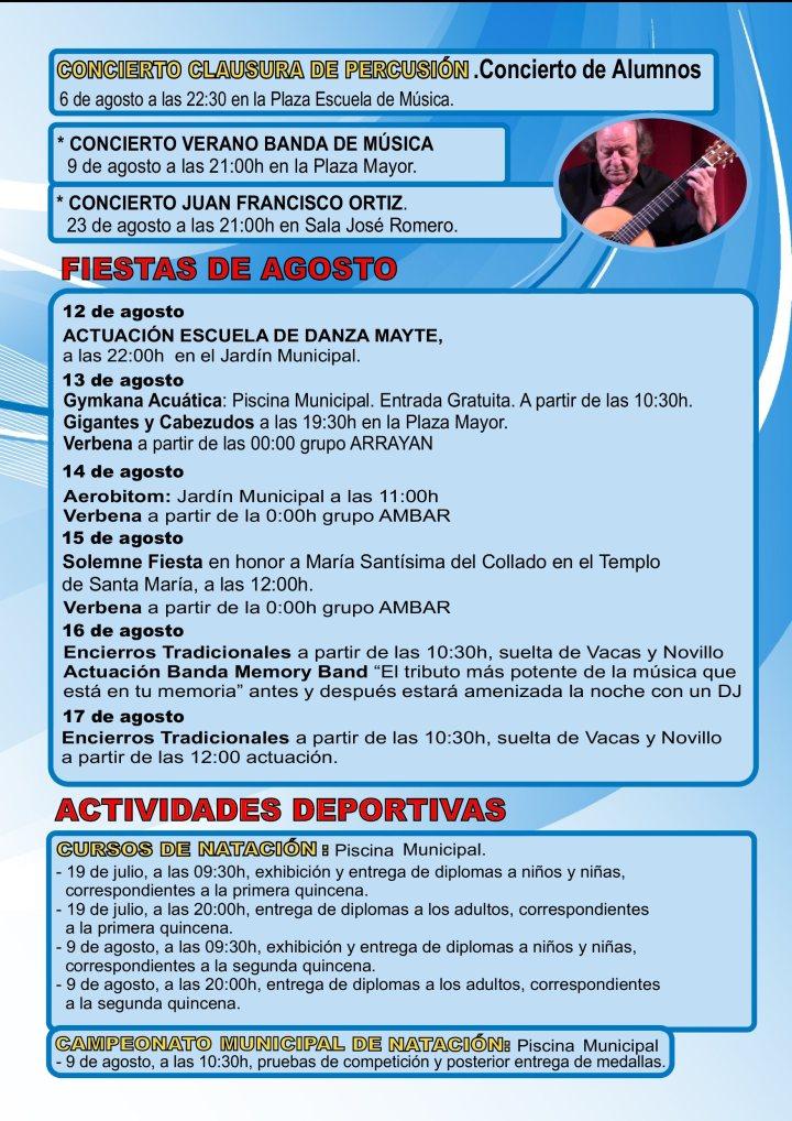 Actividades Culturales y Deportivas - Agosto 2019 -Santisteban (3)