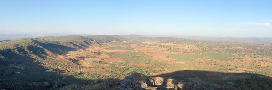 Panorámica desde el Cerro San Marcos hacia las Navas