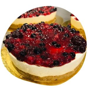Cheesecake con frutos rojos - Santo Chocolate