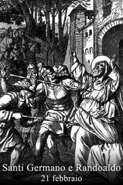 sveta German in Randoald - opat in menih, mučenca