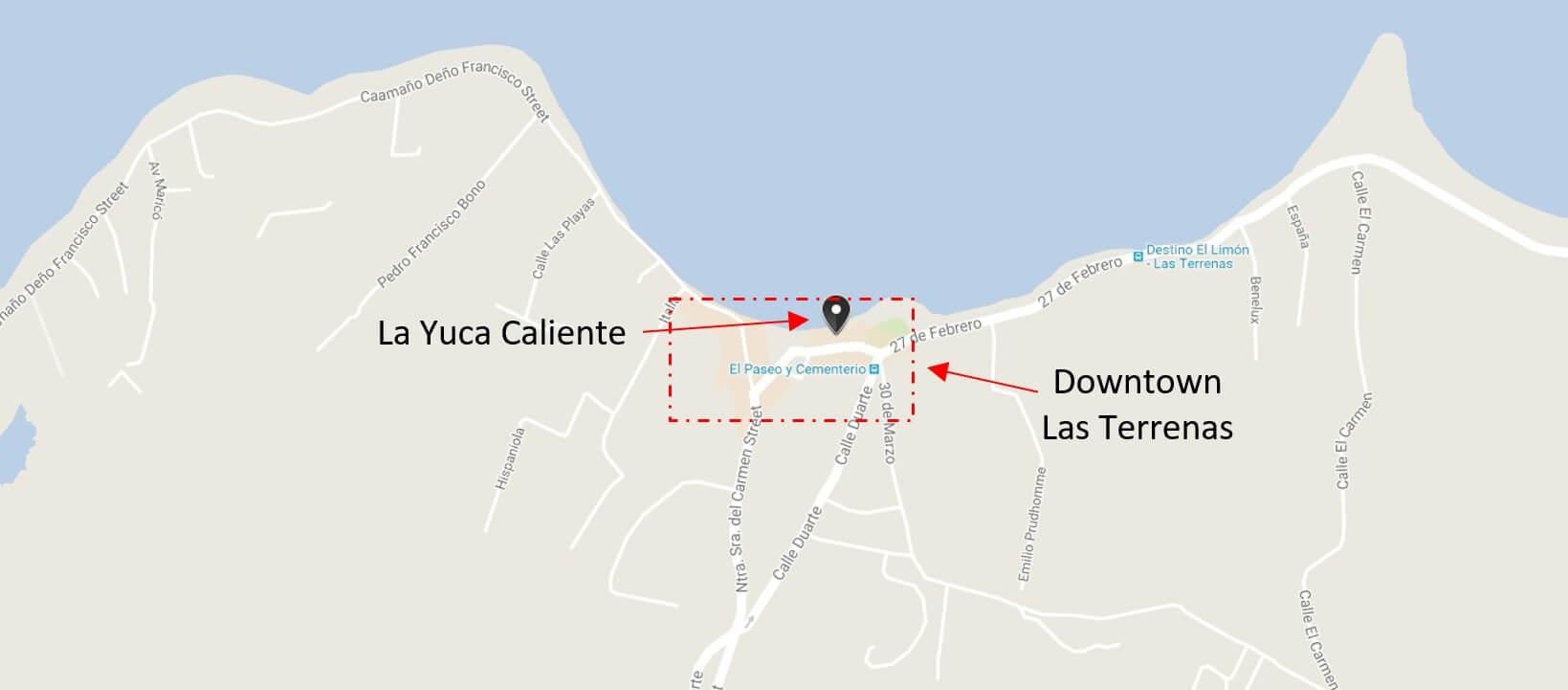 La Yuca Caliente Las Terrenas-Map