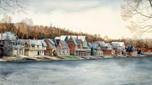 Boathouse Row by N. Santoleri