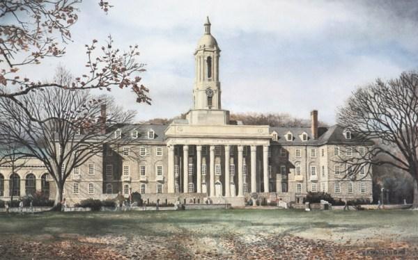 University Art Prints Penn State Old Main by Santoleri