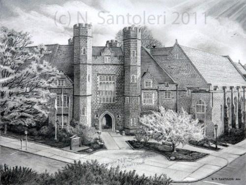 University Art Prints - West Chester University - pencil by Santoleri University Prints