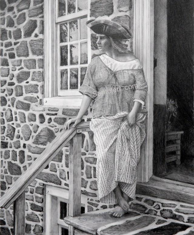 Woman With Tricorner Hat Santoleri