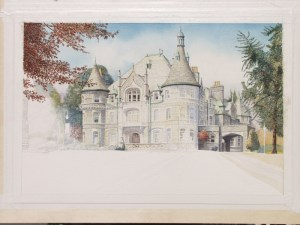 Painting in Progress of Rosemont College