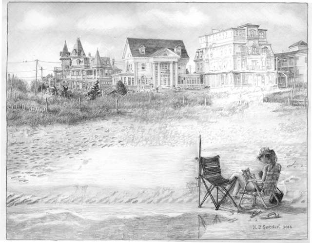 Cape May Drawing in progress 04