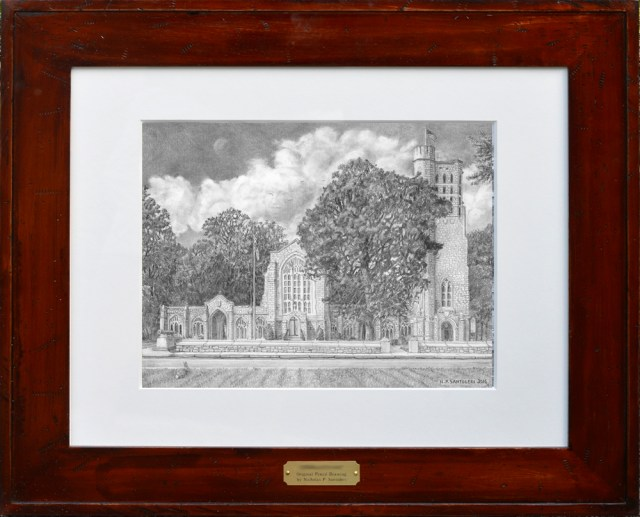 Washington Memorial Chapel Matted & Framed by Nick Santoleri