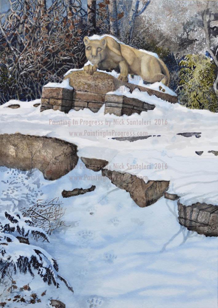 Penn State lion in progress 005 by Santoleri