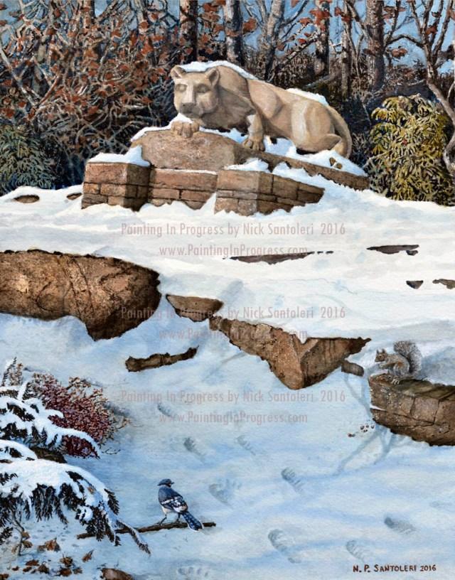 Penn State Artwork = Penn State The Lion by Santoleri