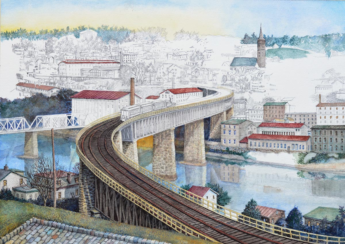 5 - S-Bridge to Manayunk in progress