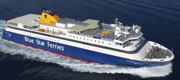 Blue Star Ferry bateau traversee Santorin