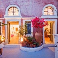 Blue Kitchen Island Kemper Cabinets Santorini Villas Zoe Houses Oia Greece