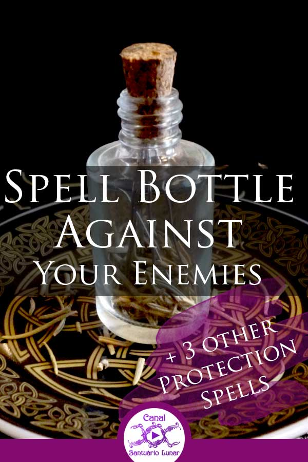 Protection spells against enemies - A Spell Bottle and 3