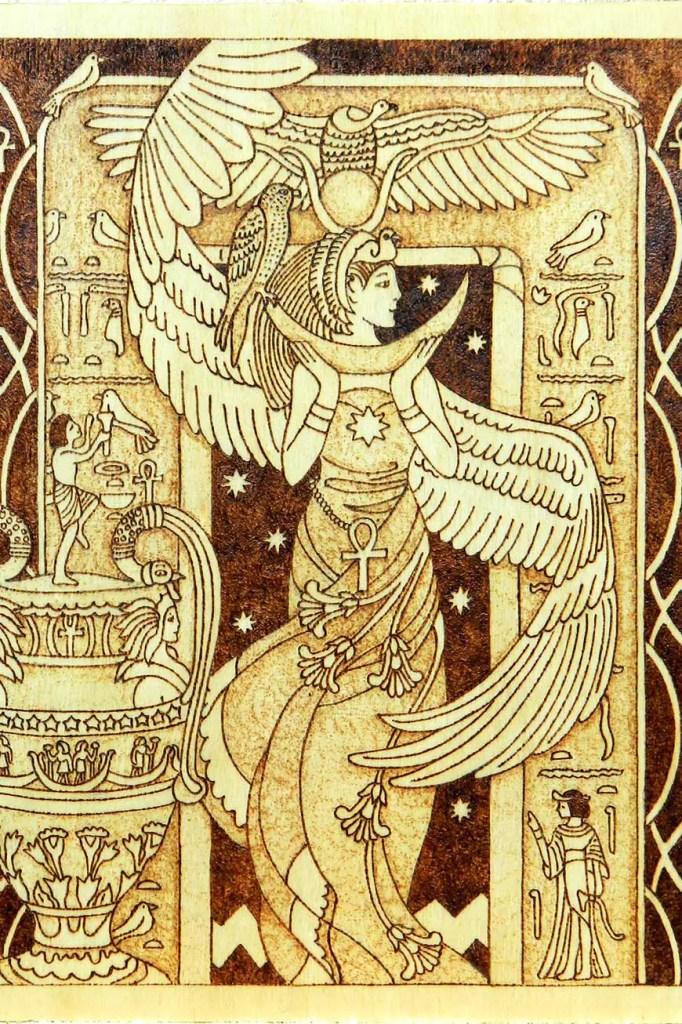 Deusa Egípcia Ísis. Arte de YANKA-arts-n-crafts
