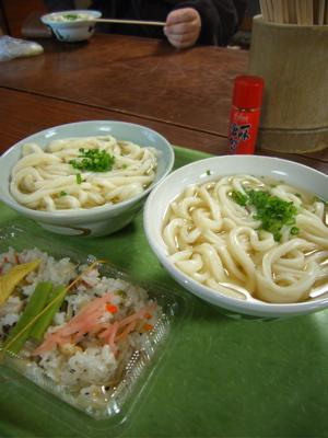 田村神社日曜市:かけ+ちらし寿司