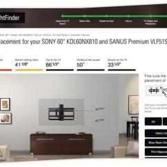 Living Room Tv Mounting Height Cartoon Picture Of Heightfinder Sanus