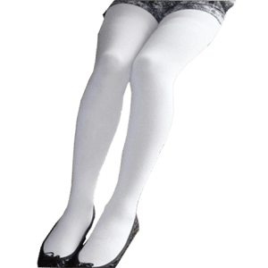 Cotton Tights – White