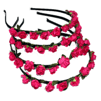 paper flower alice band - rose pink