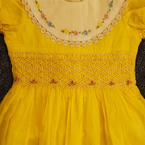 yellow smocked dress