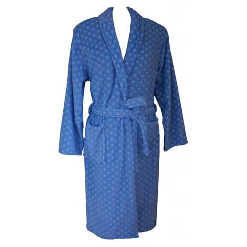 Super Soft Coral Fleece Robe – Elegant Blue