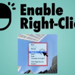 sanwhere enable right click
