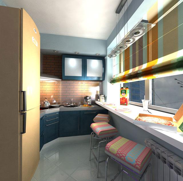 кухня на лоджии дизайн фото 2