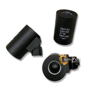 VOE14616529 Solenoid Valve Coil VOE14616530 14616529 14616530 280153 Solenoid Valve For Volvo EC210 EC360 EC290 EC240